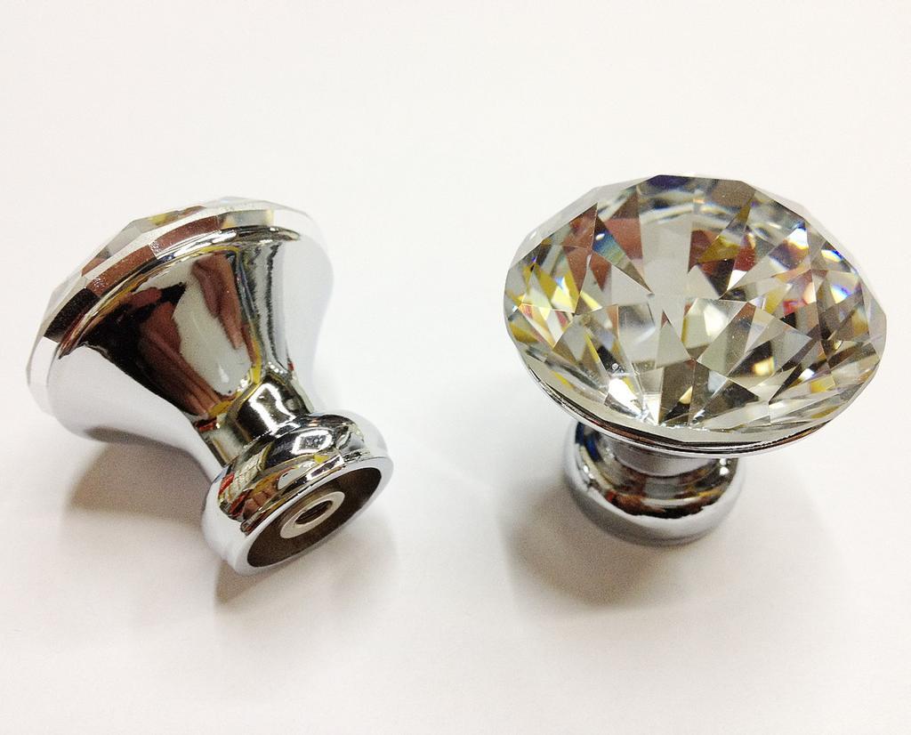 Sparking Crystal Cabinet Knob