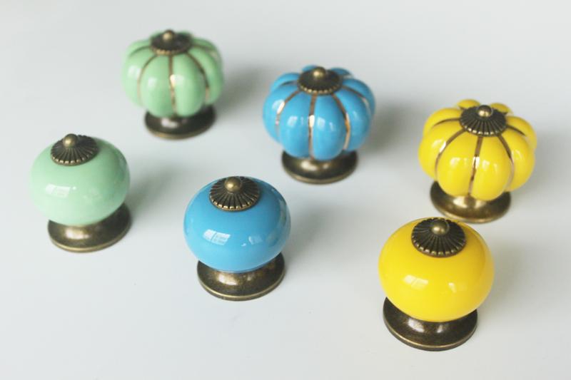 Wholesale Decorative Colorful Round Ceramic Porcelain Door