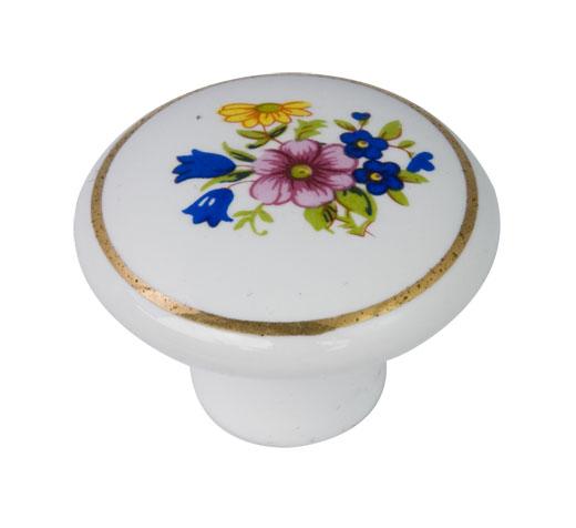round ceramic porcelain knob