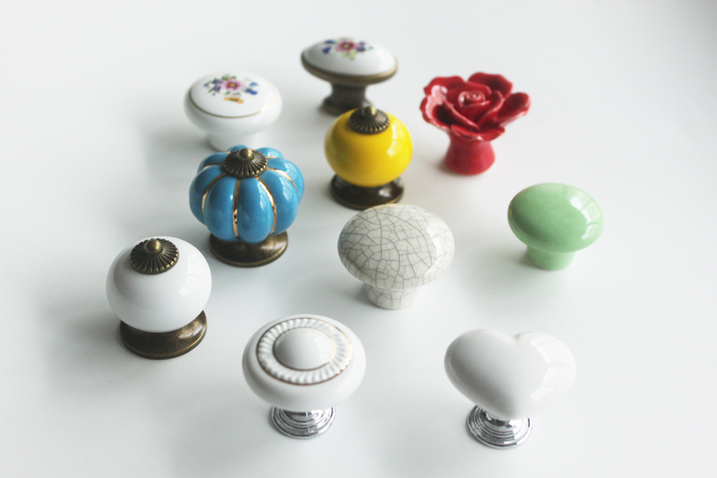 porcelain cabinet knobs