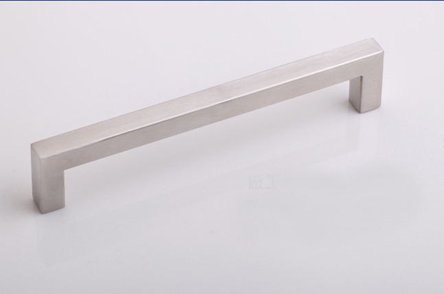 Kitchen cabinet stainless steel square pull handles