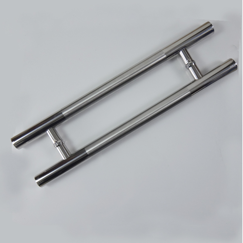 Stainless Steel Brush Glass Door Handle