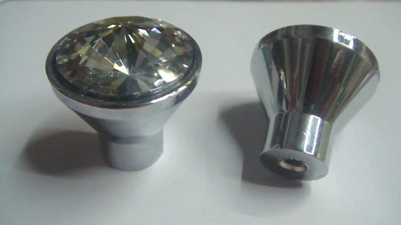 2015 fashional crystal glass draw knobs