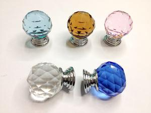 Home Decoration Drawer Glass Pull Knobs