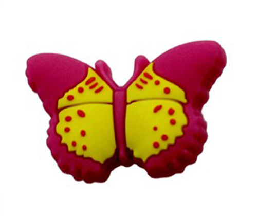rubber cartoon kids furniture butterfly knobs