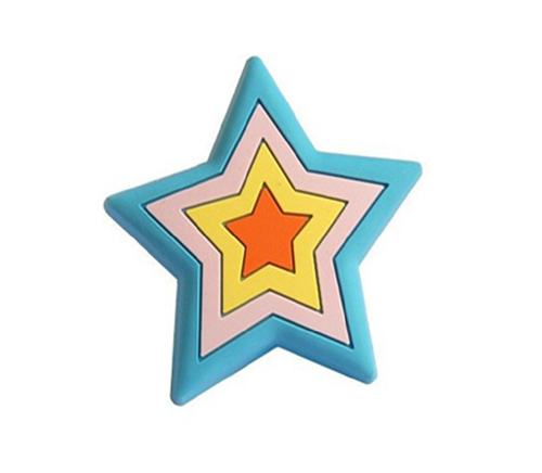 blue five-point star drawer knobs