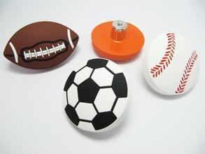 Cartoon rubber sports drawer knobs