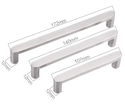 stainless steel wardrobe handles