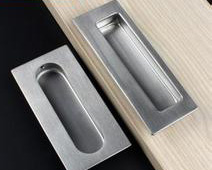 recessed drawer pulls