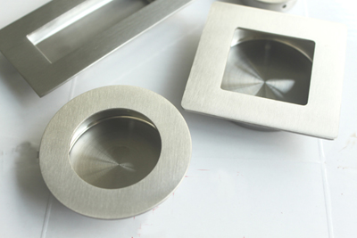 recessed flush pull handle