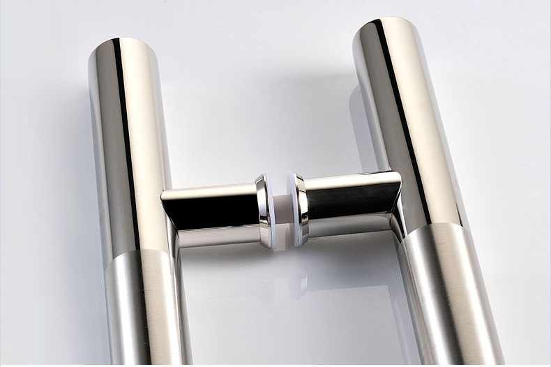 Custom double finish matt and mirror stainless steel tube door handle