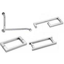 special angle shower door pull corner door handle