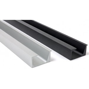 CNC anodized aluminium drawer handle profile factory supplier